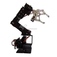 arm arduino compatible - Aluminium Robot DOF Arm Clamp Claw Mount Kit Mechanical Robotic Arm for Arduino Compatible
