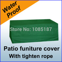 patio furniture - Outdoor Furniture Cover Waterproof For Rectangular Patio Set Table Chairs Protection Set Storage S08N