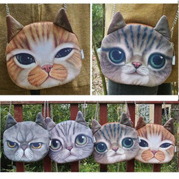2017 chaîne grand sac Grand épaule Imprimé 3D Pussy Cat Tête Visage sac à main chaîne sac peu coûteux chaîne grand sac