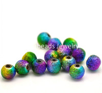 Wholesale Multicolor Stardust Acrylic Spacer Beads mm quot sold per packet of B18056 seasons