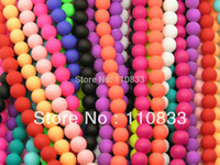 Wholesale mm Neon Rubber Glass Round Druk Frosted Matte Bead U Pick