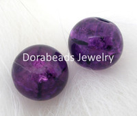 Wholesale Crackle Glass Round Beads mm Dia Findings B04928