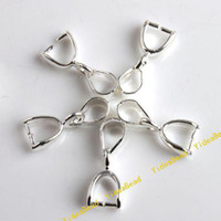 Wholesale 60x Plated Silver Pendant Clasp Balls Connecto Fit Bracelet Necklace Jewelry Accessories DIY