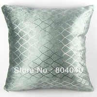 Wholesale Handmade Cotton Polyester Throw Pillow Case Decor Cushion Cover Square quot cm Shining Diamond Sequins Silver Gray PJ10