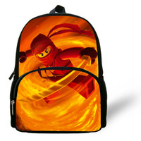 Wholesale Good quantity cartoon lego backpack for little babys Ninjago lego cartoon bag Unisex character lego school bag