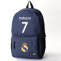 Wholesale real madrid bag Cristiano Ronaldo backpack black high quality in dollar price russian language summer style roshe new