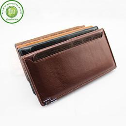 Wholesale 2015 Brand New Man Wallets Purse Cowskin Genuine Leather Long Design Card Men s Wallet Money Bag Card Holder