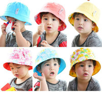 Cheap wu2010 Cute! Bunny bucket hats casual hat fashion baby child hat
