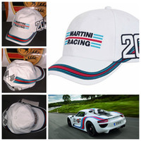 automobile racing - New Fashion MARTINI RACING Outdoor cap chapeau White sports baseball cap automobile race hats motorcycle cap Racing Cars