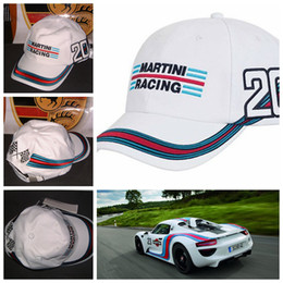 Wholesale New Fashion MARTINI RACING Outdoor cap chapeau White sports baseball cap automobile race hats motorcycle cap Racing Cars