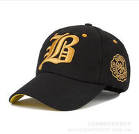 b baseball - new Ms male couples with a snapback cap baseball cap B hip hop shade the sun baseball cap Outdoor sports bone swag hat