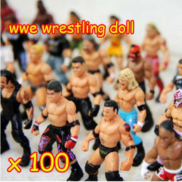 Wholesale 100pcs a large brand Action Figure toys wrestling doll dolls Many Different Style