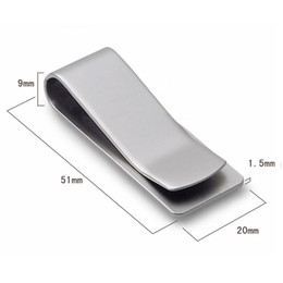 Wholesale New Fashion Mens Present Silver Stainless Steel Money Wallet Clip Card Gift
