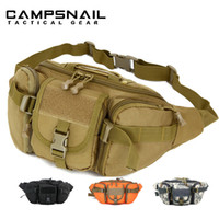 Wholesale Military Tactical men Waist bags Hip Package pochete outdoor sport suit casual Fanny Pack Hiking travel large army waist pack