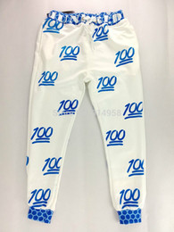 New 100 emoji joggers pants women white black for sweatpant trousers cartoon 100 emoji joggers pants outfit clothes