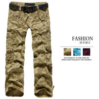 Clothing outdoor casual pants female Camouflage straight trousers military multi-pocket pants thin overalls cheap
