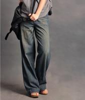 Wholesale New Arrival BOY FRIEND Jeans Loose Wide Leg Long Denim Jeans For Women Plus Size