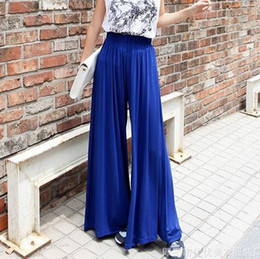 Wholesale 2015 Spring Cotton Linen Pleated High Waist Palazzo Wide leg Pants Women Plus size Loose Trousers