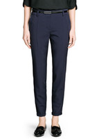 basic boots - LJ02 Fashion women s Elegant basic suit pants with belt leisure pants pockets slim look trousers brand designer pants