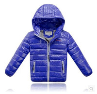 Wholesale New Brand Designer Children Outerwear Hooded Winter Coat Jacket Toddlers Kids Baby Boys Girls Clothes Down Parkas Tops