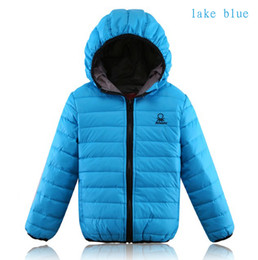 Wholesale-Winter Baby Boys Girls Coats White Duck Down Coat Warm Kids Down&Parkas For 2-10 Years Children Outerwear Jackets