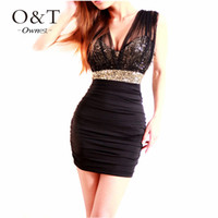 Cheap 2015 Sexy Lace Short Tight Mini Luxury Club Satin Women Clothes Sequined Party Evening Casual Dress Vestidos