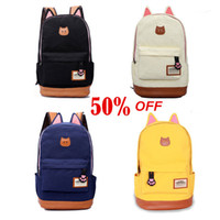 best business schools - Best Sale Fashion Unisex Canvas Backpacks Character Lady School bag Women s Traveling Backpacks BB0956