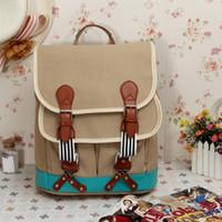 animal trolley bag - 2016 fashion Korean style Vintage Casual Canvas Backpack school bag large Rucksack trolley Bag