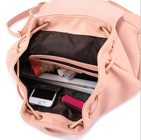 Wholesale 2015 New fashion backpacks for teenage girls korean cute big school bags leather women school backpack