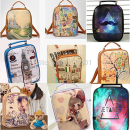 Wholesale Four Seasons Tree Star Stamp Ms Bell Double Shoulder Bag leisure Backpack School Backpack Style Book