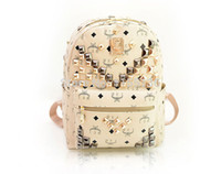 backpack offers - HOT Women backpack Special Offer PU Leather bags rivets backpack schoolbags