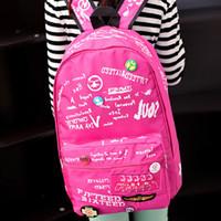 alphabet graffiti style - Hip Hop Graffiti alphabet Women s Canvas Travel Bag Backpack School Rucksack HW03073