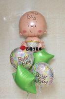 big boys heads - Anagram aluminum balloon big head baby aluminum foil balloon bably Boy Birthday balloons