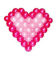balloons gift bags - 2015 Heart wedding balloons Heart mesh bags balloons party wedding bundle wedding props gifts