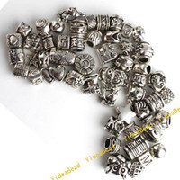 Wholesale 50pcs Mixed Assorted Alloy Charms Beads Fit Bracelet Necklace DIY beads