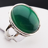 jade rings - New Arrival Guaranteed Malay Jade Stones Oval Vintage Retro Silver Rings for Womens Mens Mother s Day Gift A544