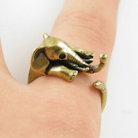 Band Rings band elephant - Hot Cake ONE PIECE Adjustable Elephant Animal Wrap Ring Bronze silver Women s Girl s Retro Rings For Teen Girls