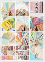 Wholesale 12 Different Styles DIY Scrapbook Paper Photos Frame Decorative Stickers for Instax Mini Film
