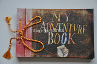 bamboo photo albums - Home Decor Photo album My adventure book pixar up film adventure book Loose leaf Photo Album as birthday gift