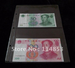 Wholesale 180x120mm Album Pages Pockets Money Bill Note Currency Holder Collection PVC For Coin And Money