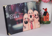 albums records - Christmas gifts Fashion lovely baby DIY photo albums to record baby growth new design