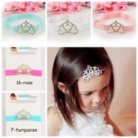 Wholesale Infant Tollder Crown Pearl Headband bow Princess Crown Headwear Baby Kids Girls Hair Accessories