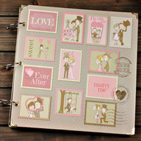 big picture books - 12 Inch Big Kraft Paper Handmade DIY Sticky Type Photo Album Scrapbooking Scrapbook Book Picture Photograph Folder Love Stamp