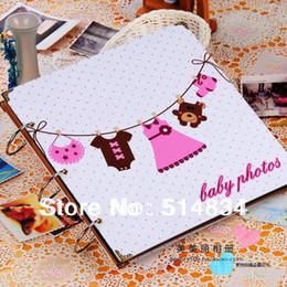 Wholesale 2015 designer baby photo album diy wedding picture albums books handmade ablums for kids best memory gift