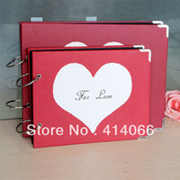 autographed photos - Korean Cute Series inch heart shaped DIY album wedding photo album Youth autograph album