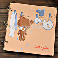 bamboo plan - 12 Inch Big Kraft Paper Handmade Sticky Type DIY Photo Album Wedding Baby Gift Scrapbooking Scrapbook Book Picture Lucky Plan