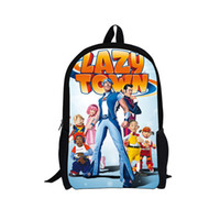 Wholesale Hot Sale Children s D Cartoon Backpack Funny Lazy Town Girls and Boys School Backpack Kids Shoulder Backpack Free