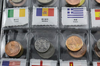 asia world - World Genuine Coin Collection Album from Country China Asia UK Europe AU