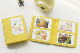 Lemon Yellow Candy Color Instax Mini 7s 8 25 50s Instant PVC Photo Album 64 Films For FujiFilm Polaroid Camera + Free Shipping