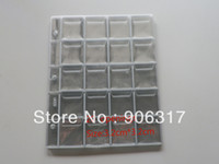 Wholesale 20 pockets per page cm cm Vinyl Coin Pages Plastic Page